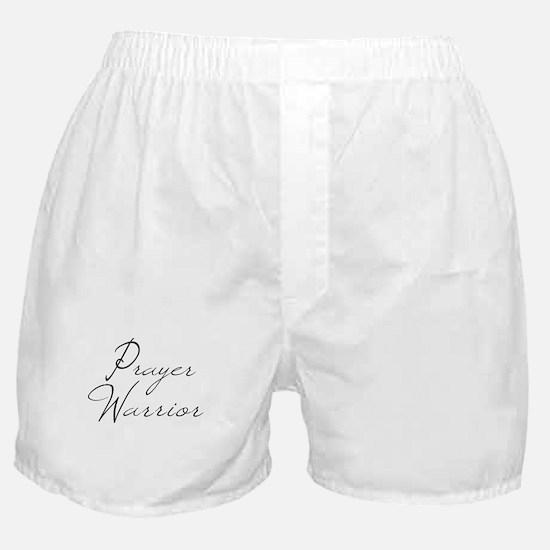 Prayer Warrior in black typography Boxer Shorts