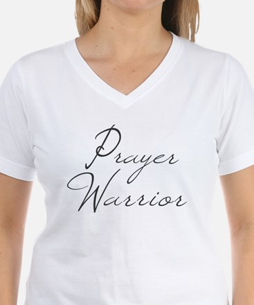 Prayer Warrior in black typography T-Shirt