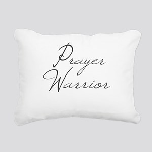 Prayer Warrior in black typography Rectangular Can