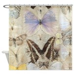 Antique Butterfly Shower Curtain