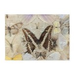 Antique Butterfly 5'x7'Area Rug
