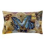 Antique Butterfly Enhanced Pillow Case