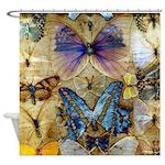 Antique Butterfly Enhanced Shower Curtain