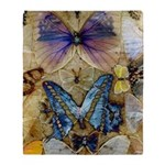 Antique Butterfly Enhanced Throw Blanket