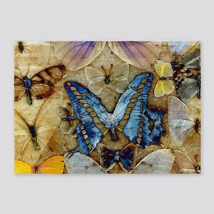 Antique Butterfly Enhanced 5'x7'Area Rug