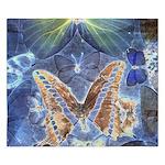 Antique Butterfly Blueprint King Duvet