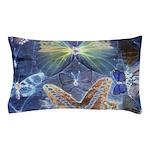 Antique Butterfly Blueprint Pillow Case