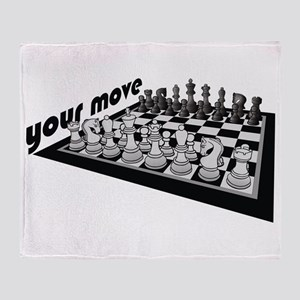 Your Move Chess Throw Blanket