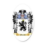 Gerred Oval Car Magnet