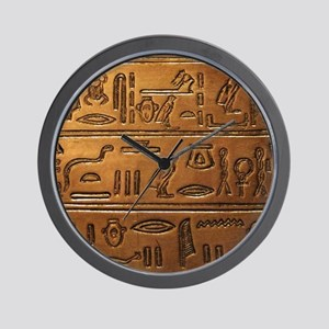 Hieroglyphs 2014-1020 Wall Clock