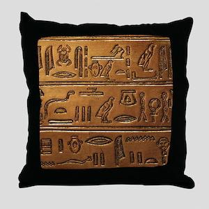 Hieroglyphs 2014-1020 Throw Pillow