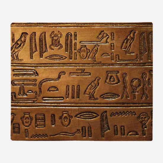 Hieroglyphs 2014-1020 Throw Blanket