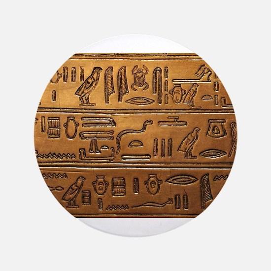 "Hieroglyphs 2014-1020 3.5"" Button"