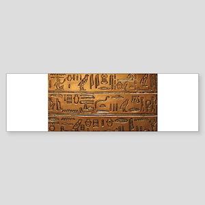Hieroglyphs 2014-1020 Bumper Sticker