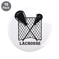 "Lacrosse By Other Sports & 3.5"" Button (1"