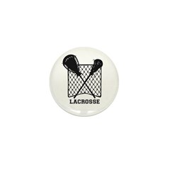 Lacrosse By Other Sports & Mini Button (100 Pa