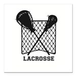"""Lacrosse By Other Sports Square Car Magnet 3"""""""