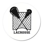 Lacrosse By Other Sports & Stuff Round Car Mag