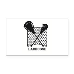 Lacrosse By Other Sports & Rectangle Car Magne