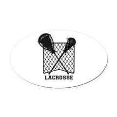 Lacrosse By Other Sports & Stuff Oval Car Magn