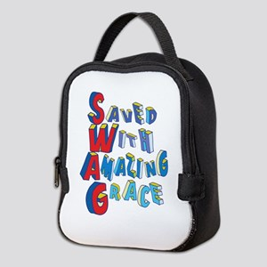 SWAG - saved with amazing grace Neoprene Lunch Bag