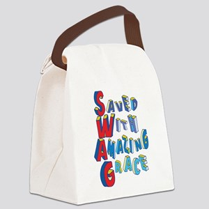 SWAG - saved with amazing grace Canvas Lunch Bag