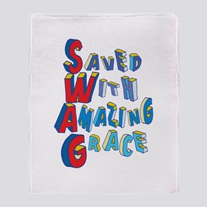 SWAG - saved with amazing grace Throw Blanket