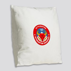 87th_interceptor_squadron Burlap Throw Pillow