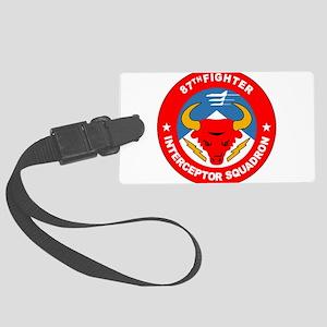 87th_interceptor_squadron Large Luggage Tag
