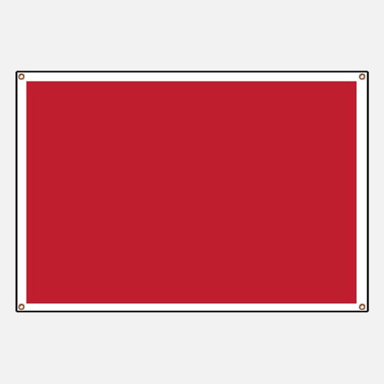 Cardinal Red Solid Color Banner