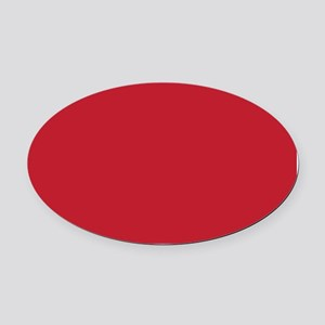 Cardinal Red Solid Color Oval Car Magnet