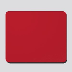 Cardinal Red Solid Color Mousepad