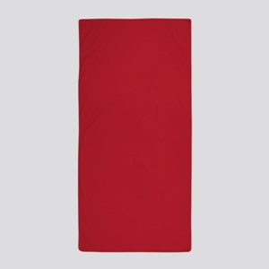 Cardinal Red Solid Color Beach Towel