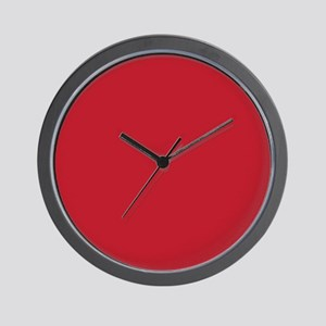 Cardinal Red Solid Color Wall Clock