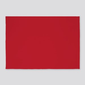 Cardinal Red Solid Color 5'x7'Area Rug