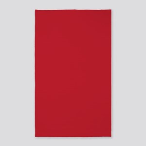 Cardinal Red Solid Color 3'x5' Area Rug