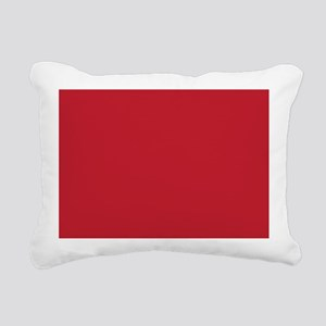 Cardinal Red Solid Color Rectangular Canvas Pillow