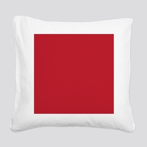 Cardinal Red Solid Color Square Canvas Pillow