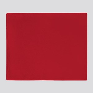 Cardinal Red Solid Color Throw Blanket