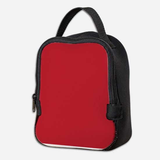 Cardinal Red Solid Color Neoprene Lunch Bag