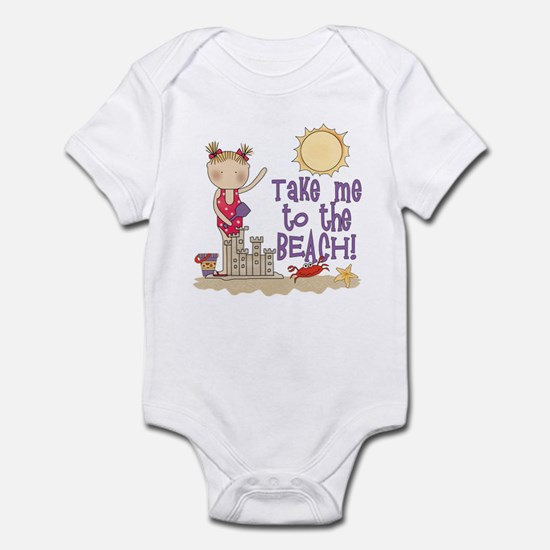 To the Beach (Girl) Infant Bodysuit