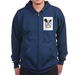Lacrosse By Other Sports Stuff Zip Hoodie (dark)