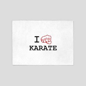 I Love Karate 5'x7'Area Rug