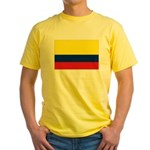 Colombia National Flag Yellow T-Shirt