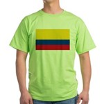 Colombia National Flag Green T-Shirt
