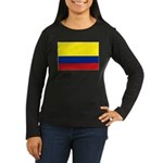 Colombia National Women's Long Sleeve Dark T-Shirt