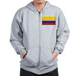 Colombia National Flag Zip Hoodie