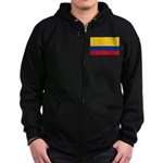 Colombia National Flag Zip Hoodie (dark)