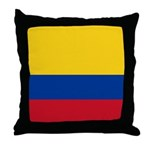 Colombia National Flag Throw Pillow