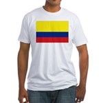 Colombia National Flag Fitted T-Shirt